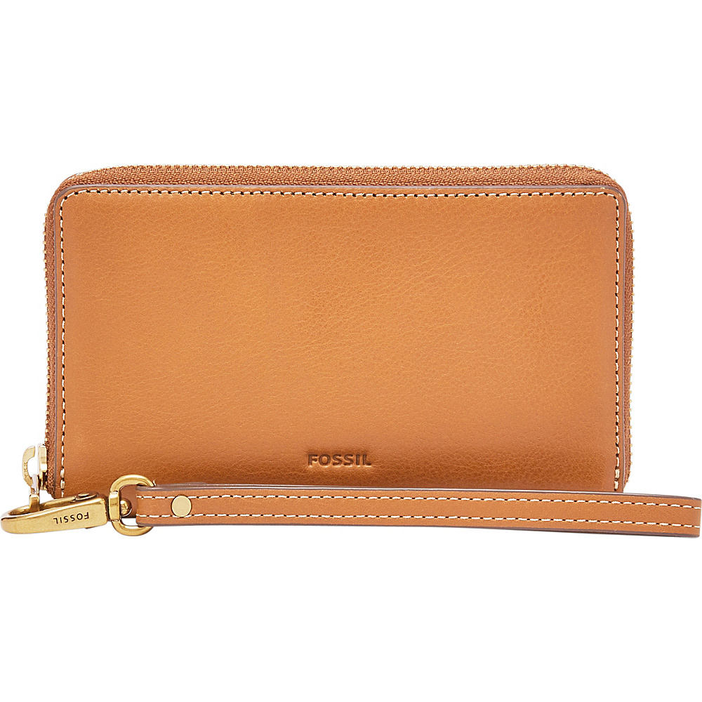 Fossil Emma RFID Smartphone Wristlet Tan (231) - Fossil Designer Handbags - Handbags, Designer Handbags