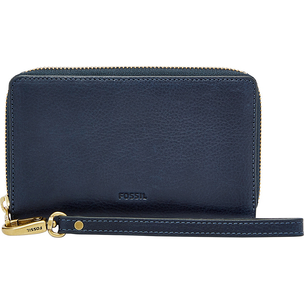 Fossil Emma RFID Smartphone Wristlet Midnight Navy - Fossil Womens Wallets - Women's SLG, Women's Wallets