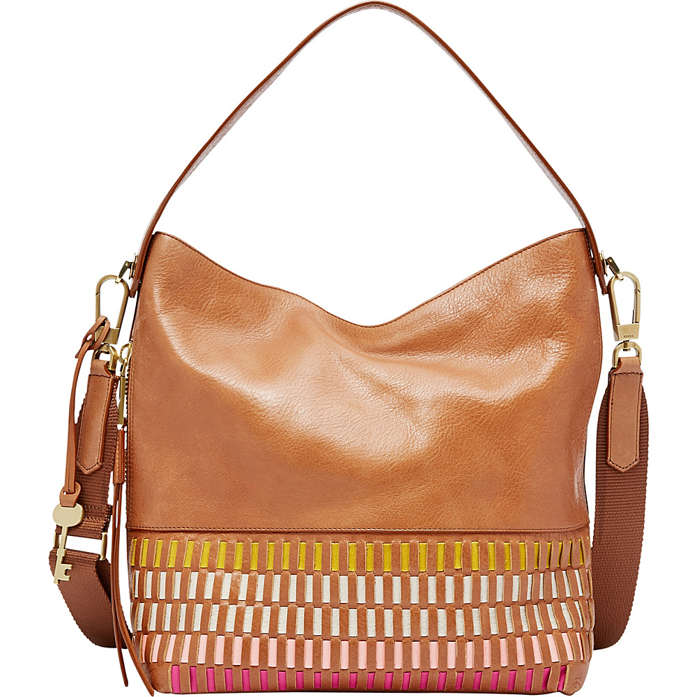 Fossil Maya Hobo Pink Multi - Fossil Leather Handbags - Handbags, Leather Handbags
