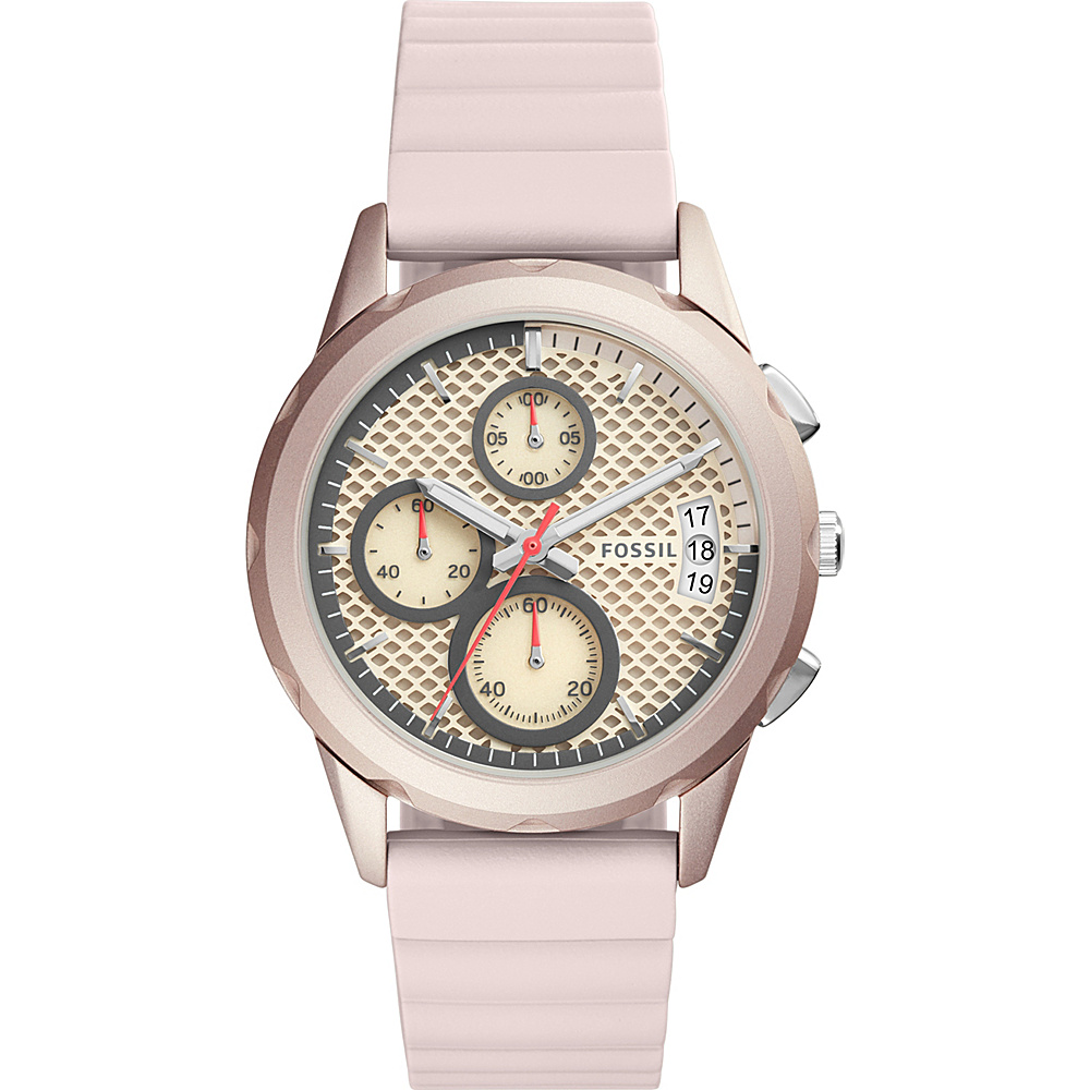 Fossil Modern Pursuit Multifunction Silicone Watch Pink - Fossil Watches - Fashion Accessories, Watches