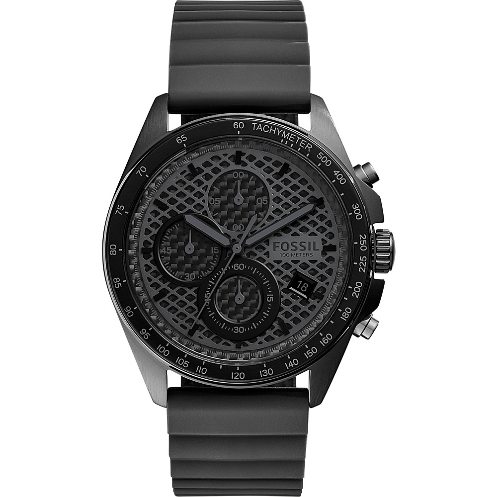 Fossil Sport 54 Chronograph Silicone Watch Grey - Fossil Watches - Fashion Accessories, Watches