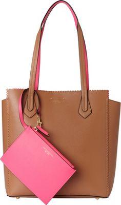 Tignanello Spring Fling Tote Vachetta/Neon Pink - Tignanello Leather Handbags