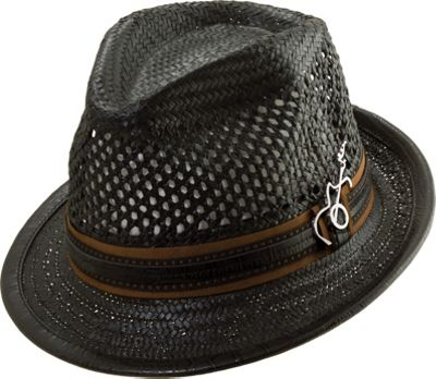 Carlos Santana Hats Mohican Hat S/M - Black - Large - Carlos Santana Hats Hats