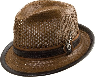 Carlos Santana Hats Mohican Hat S/M - Brown - Large - Carlos Santana Hats Hats