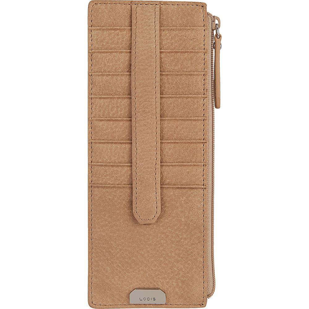 Lodis Gijon Credit Card Case with Zipper Pocket Desert - Lodis Womens Wallets - Women's SLG, Women's Wallets