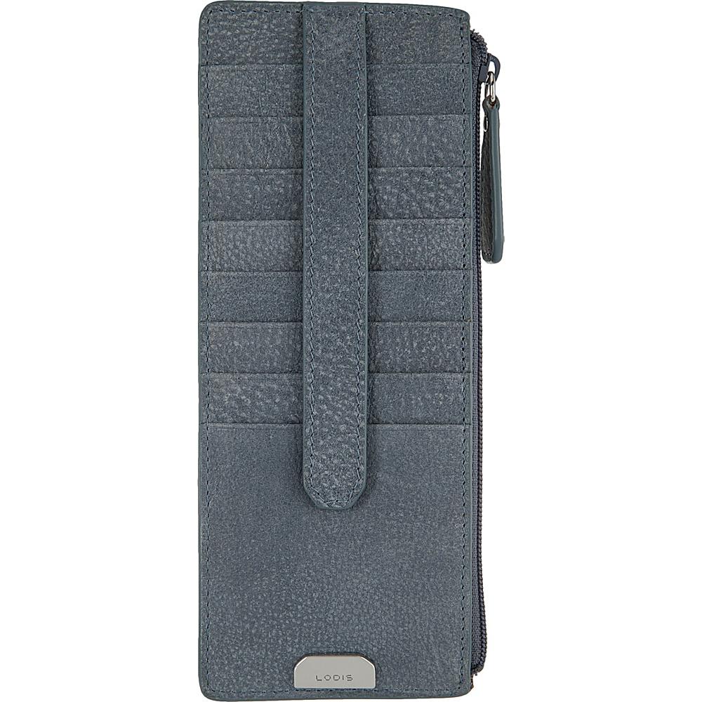 Lodis Gijon Credit Card Case with Zipper Pocket Navy - Lodis Womens Wallets - Women's SLG, Women's Wallets