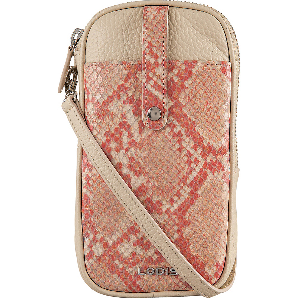 Lodis Kate Exotic Blossom Mini Crossbody Pink/Cream - Lodis Leather Handbags - Handbags, Leather Handbags