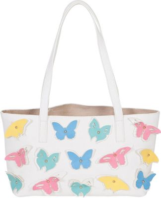 BUCO Small Butterfly Tote White - BUCO Manmade Handbags