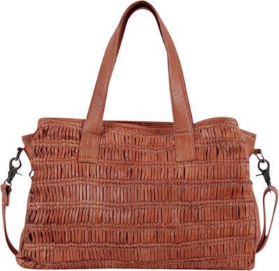 Day & Mood Alma Satchel Peach - Day & Mood Leather Handbags