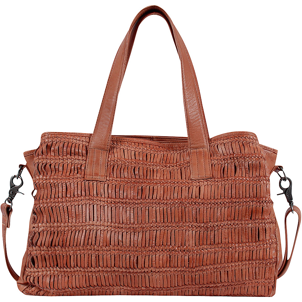 Day Mood Alma Satchel Peach Day Mood Leather Handbags