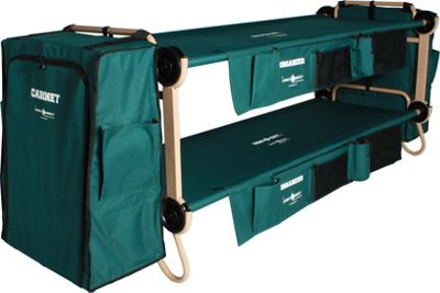 Disc-O-Bed CamOBunk Large with 2 Organizers Cabinets Green - Disc-O-Bed Outdoor Accessories