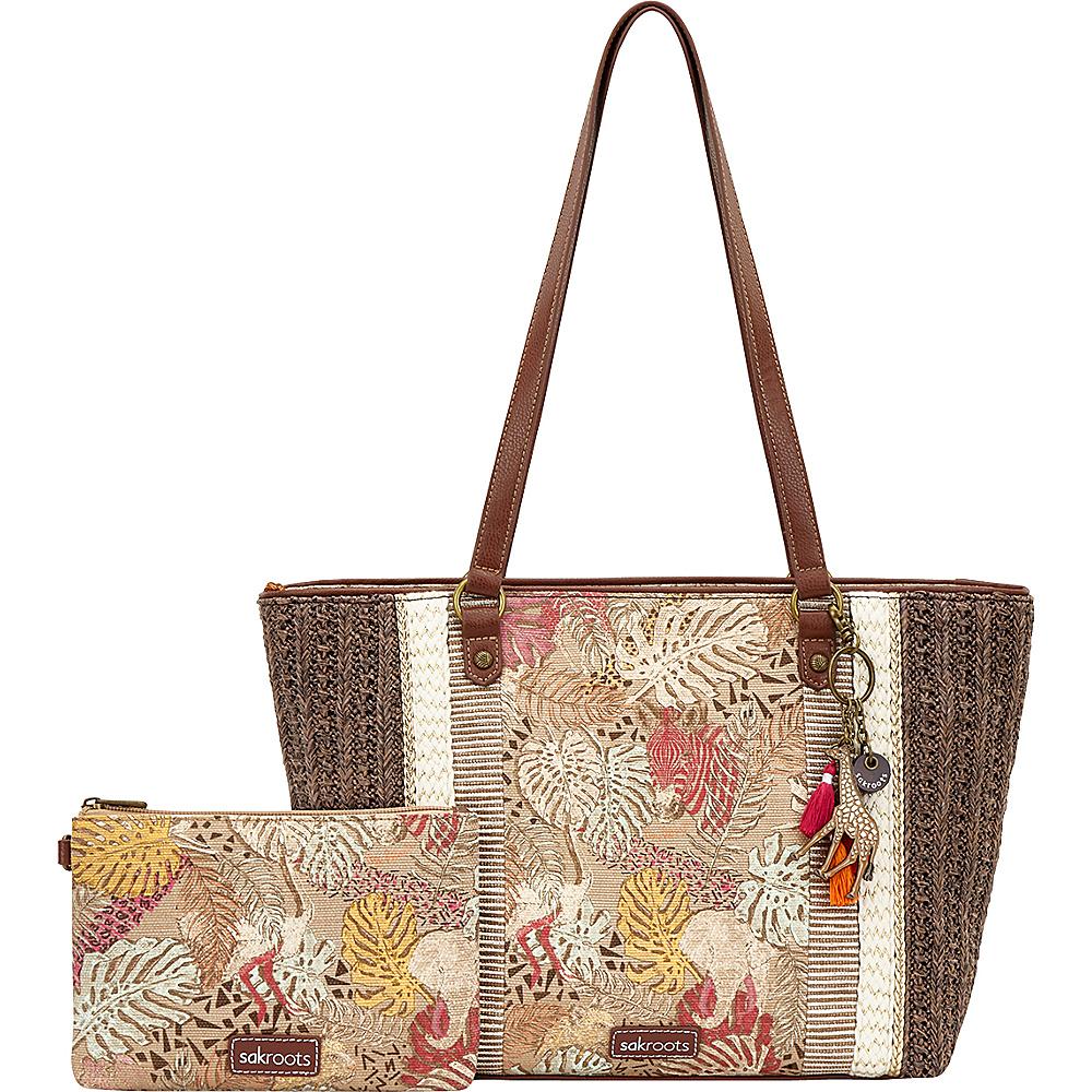 Sakroots Meadow Medium Satchel Tan Wildlife - Sakroots Fabric Handbags - Handbags, Fabric Handbags