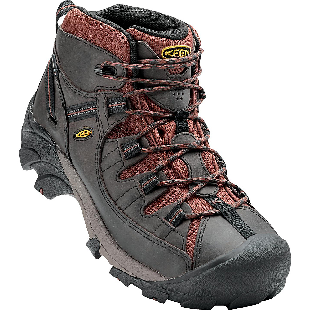 KEEN Mens Targhee II Mid Waterproof Hiking Boot 9.5 - M (Regular/Medium) - Raven/Tortoise Shell - KEEN Mens Footwear - Apparel & Footwear, Men's Footwear
