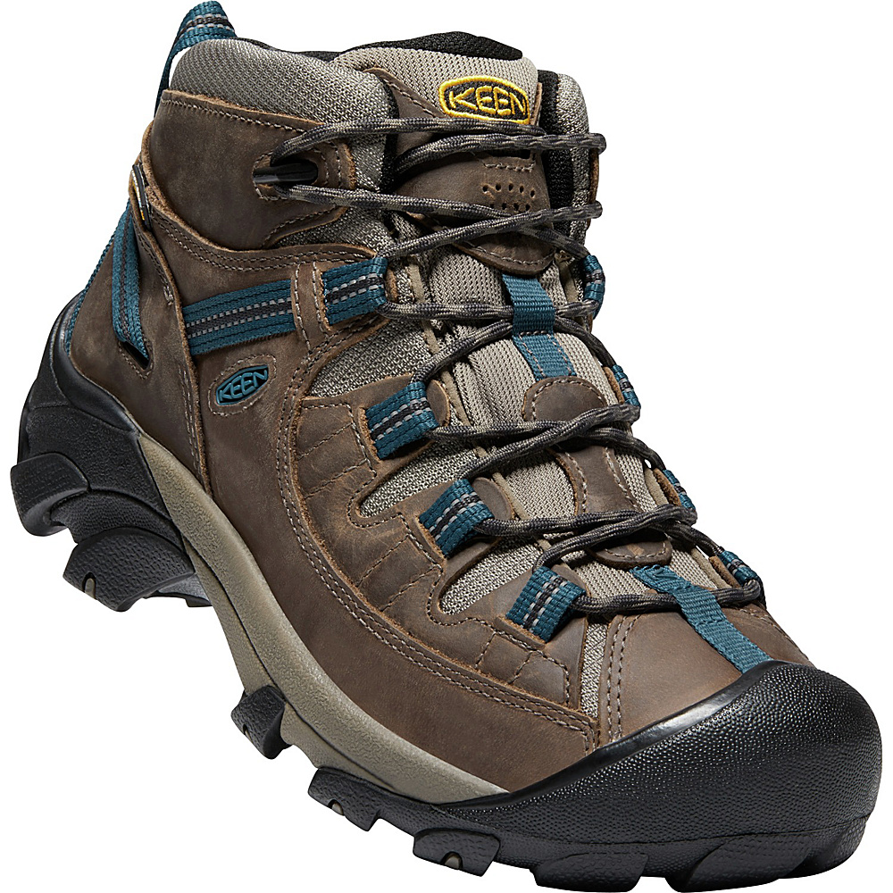 KEEN Mens Targhee II Mid Waterproof Hiking Boot 11 - M (Regular/Medium) - Bungee Cord/Legion Blue - KEEN Mens Footwear - Apparel & Footwear, Men's Footwear