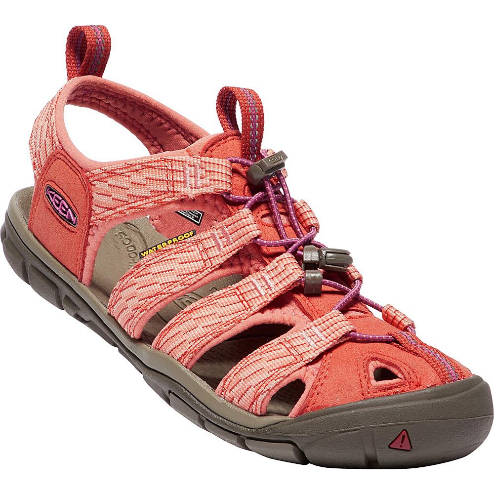 KEEN Womens Clearwater CNX Sandal 8 - Summer Fig/Crabapple - KEEN Womens Footwear - Apparel & Footwear, Women's Footwear