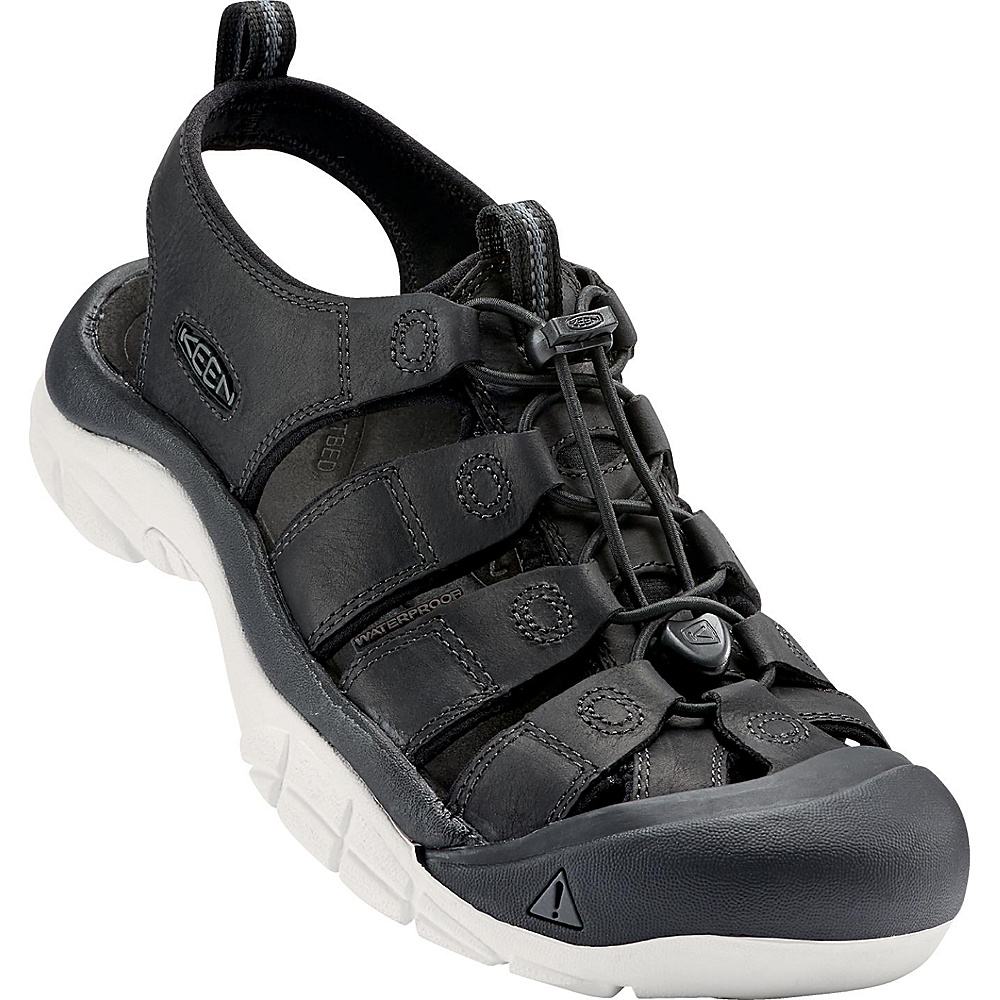 KEEN Mens Newport ATV Sandal 9.5 - Black/Star White - KEEN Mens Footwear - Apparel & Footwear, Men's Footwear