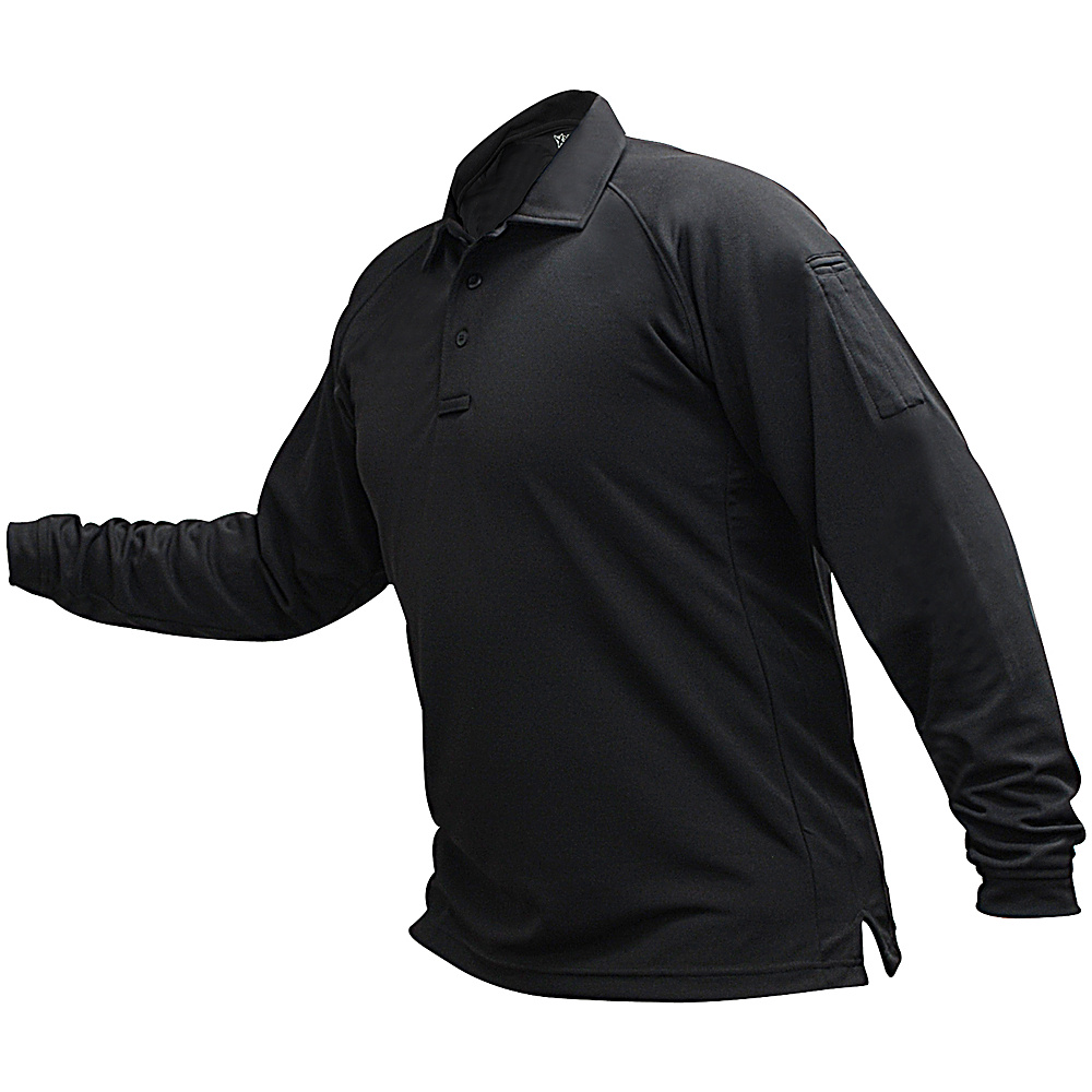 Vertx Mens Coldblack Long Sleeve Polo 2XL - Black - Vertx Mens Apparel - Apparel & Footwear, Men's Apparel