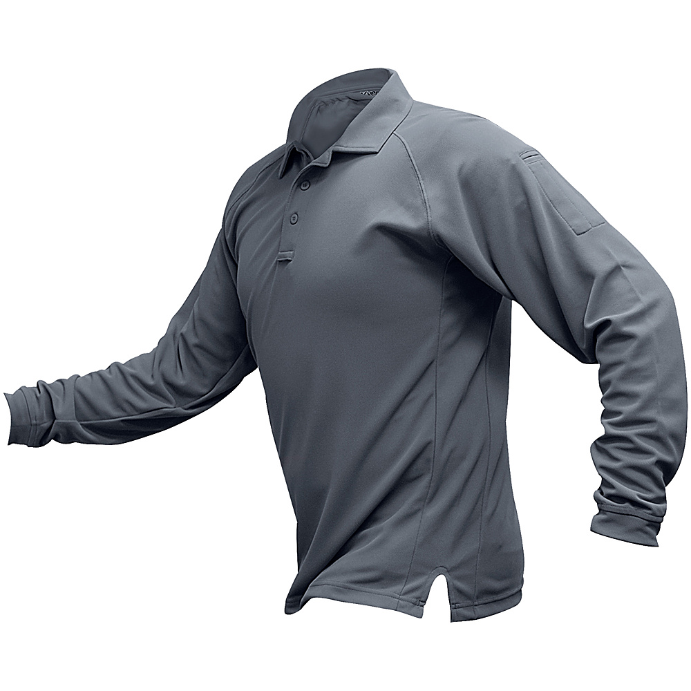 Vertx Mens Coldblack Long Sleeve Polo 4XL - Grey - Vertx Mens Apparel - Apparel & Footwear, Men's Apparel