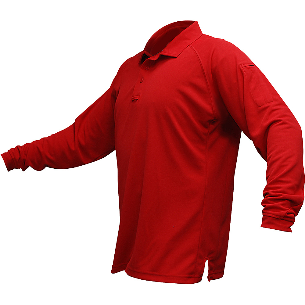 Vertx Mens Coldblack Long Sleeve Polo 2XL - Red - Vertx Mens Apparel - Apparel & Footwear, Men's Apparel