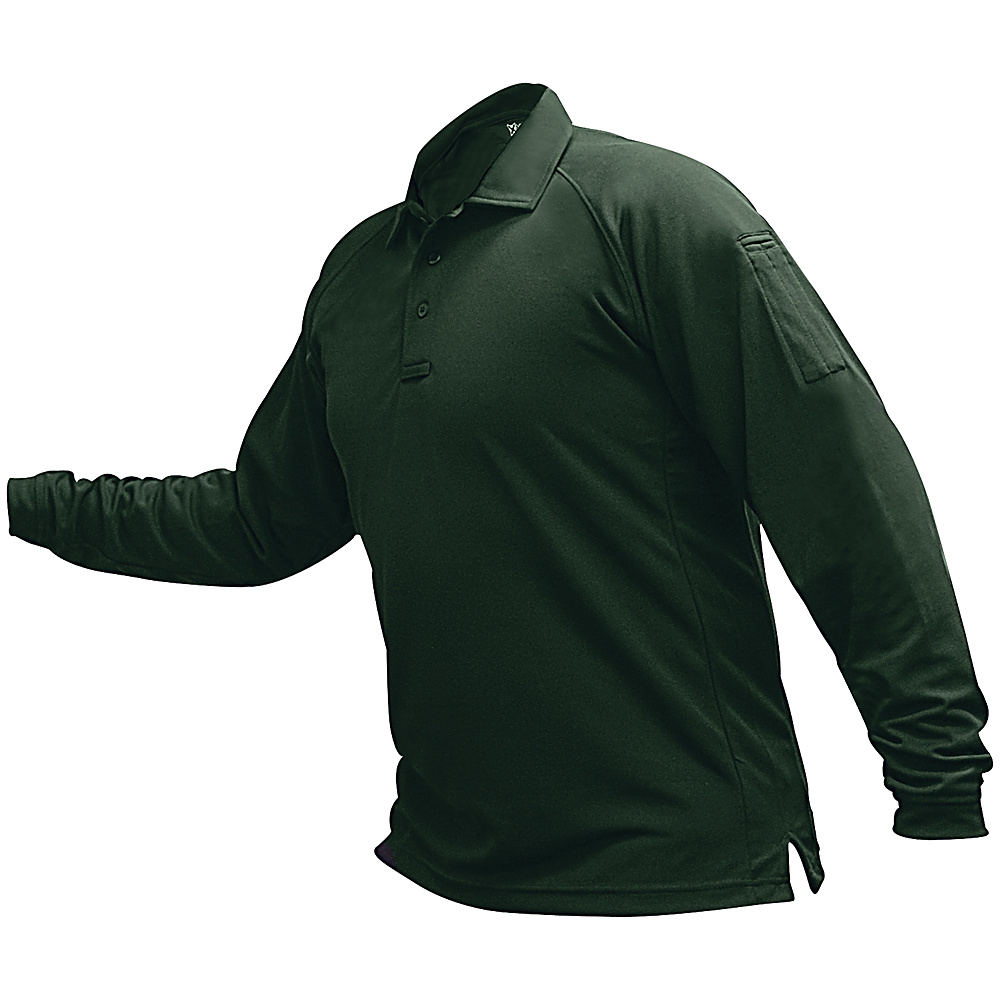 Vertx Mens Coldblack Long Sleeve Polo 3XL - Spruce Green - Vertx Mens Apparel - Apparel & Footwear, Men's Apparel