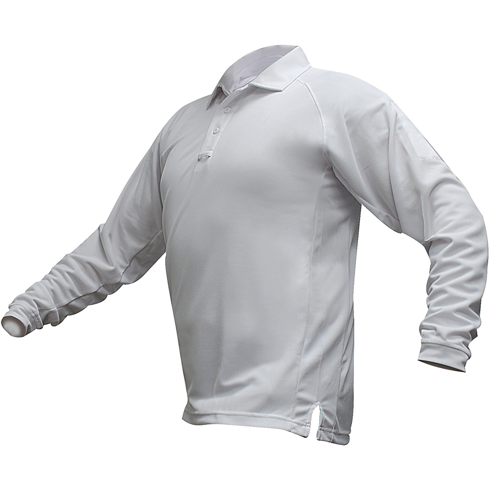 Vertx Mens Coldblack Long Sleeve Polo 2XL - White - Vertx Mens Apparel - Apparel & Footwear, Men's Apparel