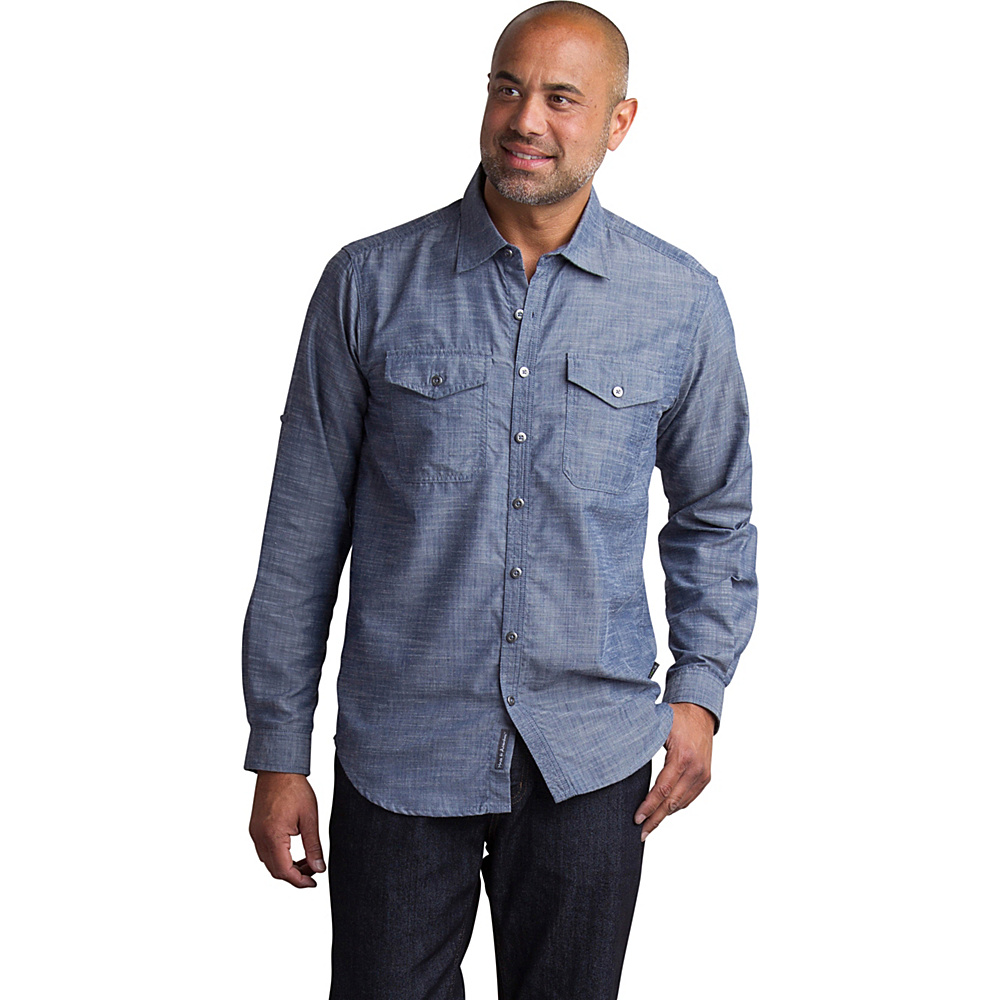 ExOfficio Mens Sol Cool Chambray Long Sleeve Shirt M - Indigo - ExOfficio Mens Apparel - Apparel & Footwear, Men's Apparel