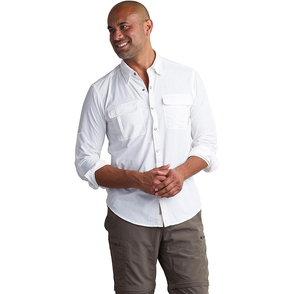 ExOfficio Mens Bugs Away Halo Long Sleeve Shirt M - White - ExOfficio Mens Apparel - Apparel & Footwear, Men's Apparel