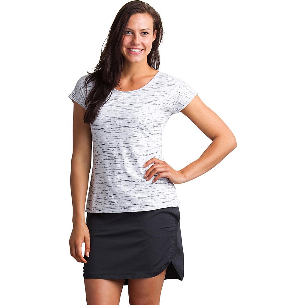 ExOfficio Womens Wanderlux Reversible Short Sleeve Shirt S - White/Platinum Marl - ExOfficio Womens Apparel - Apparel & Footwear, Women's Apparel