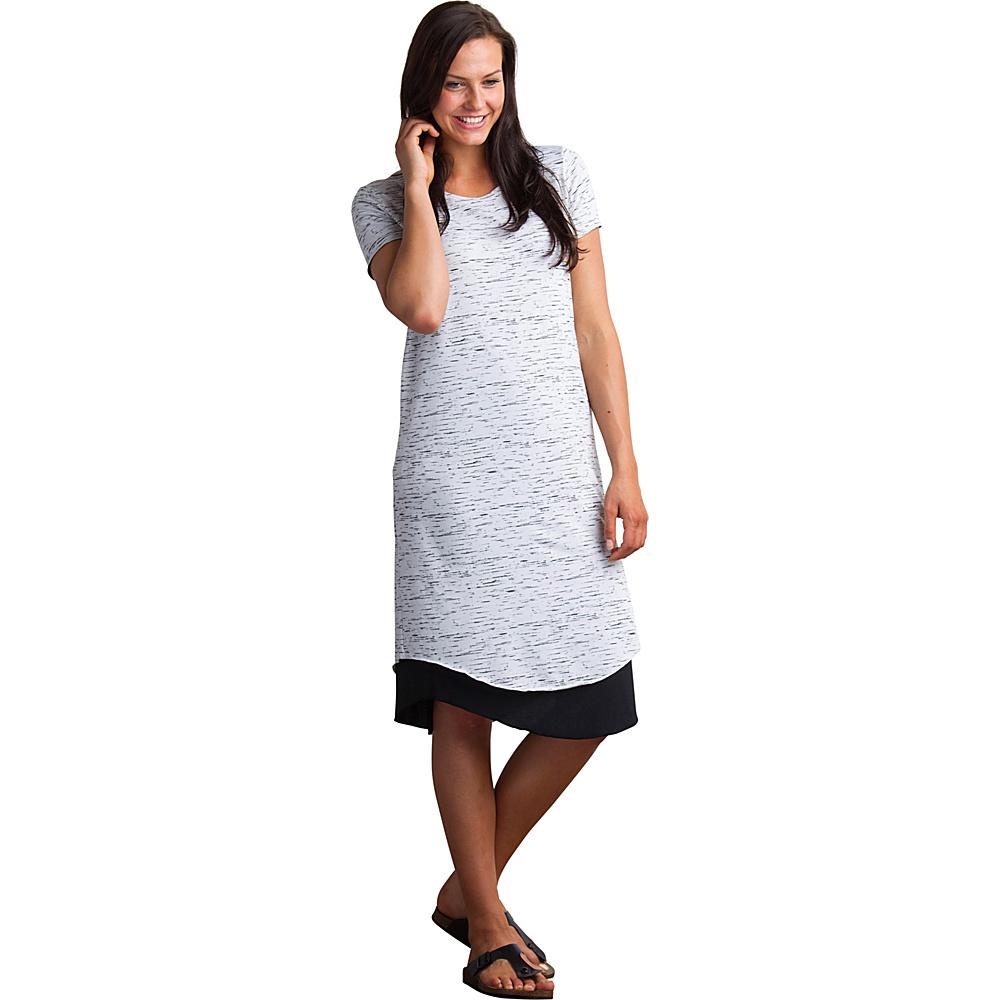 ExOfficio Womens Wanderlux Reversible T-Shirt Dress XS - Platinum Marl/Black - ExOfficio Womens Apparel - Apparel & Footwear, Women's Apparel