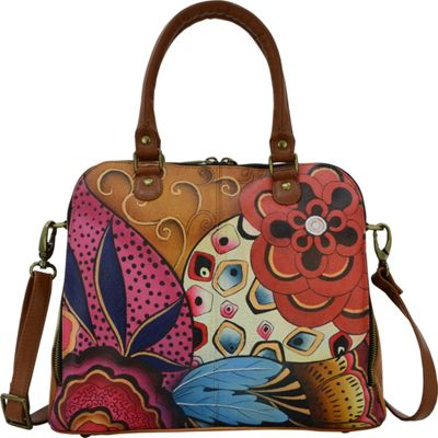 ANNA by Anuschka Organizer Satchel Tribal Potpourri - ANNA by Anuschka Leather Handbags