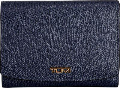 Tumi Sinclair Tri-Fold Wallet Moroccan Blue - Tumi Women's Wallets