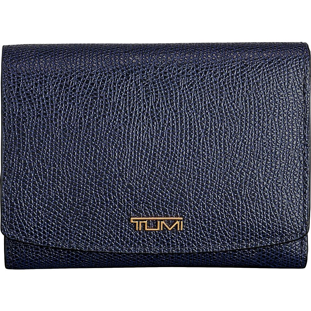 Tumi Sinclair Tri-Fold Wallet Moroccan Blue - Tumi Womens Wallets - Women's SLG, Women's Wallets