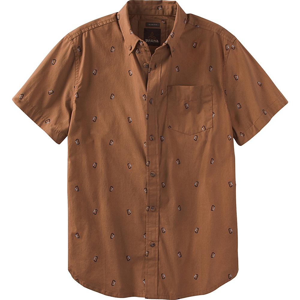 PrAna Broderick Shirt XL - Tree Bark - PrAna Mens Apparel - Apparel & Footwear, Men's Apparel