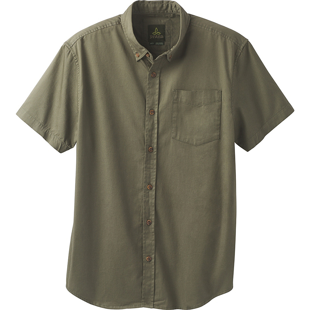 PrAna Broderick Shirt L - Cargo Green - PrAna Mens Apparel - Apparel & Footwear, Men's Apparel