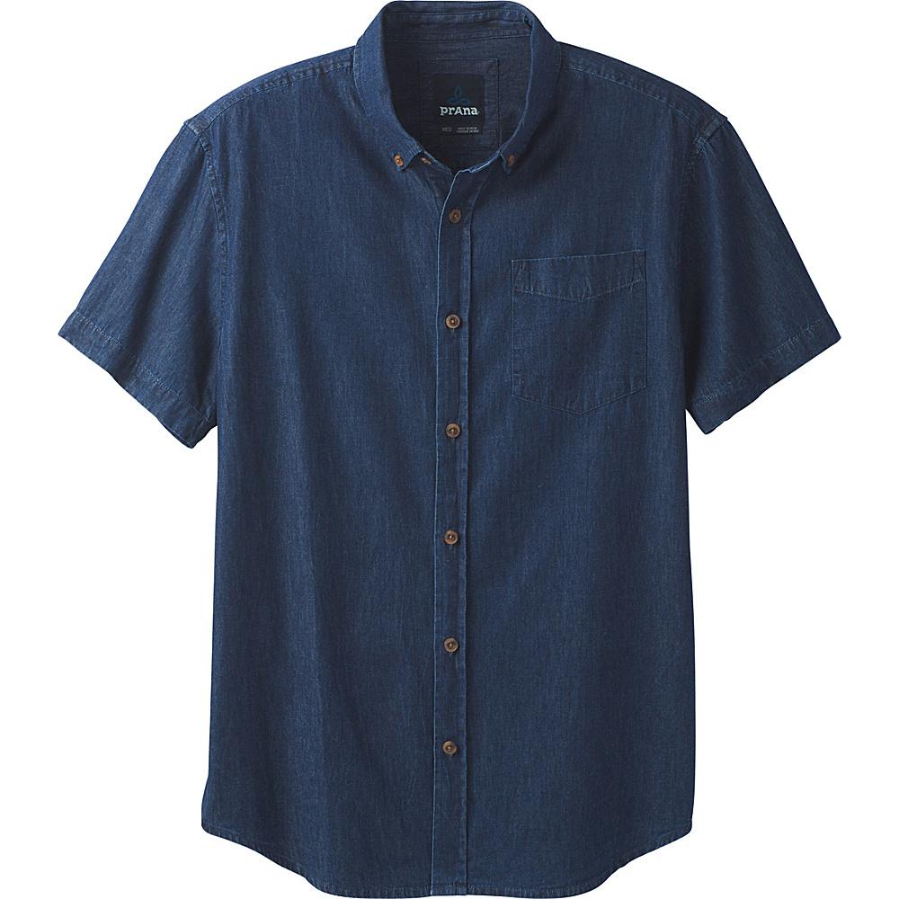 PrAna Broderick Shirt M - Indigo - PrAna Mens Apparel - Apparel & Footwear, Men's Apparel
