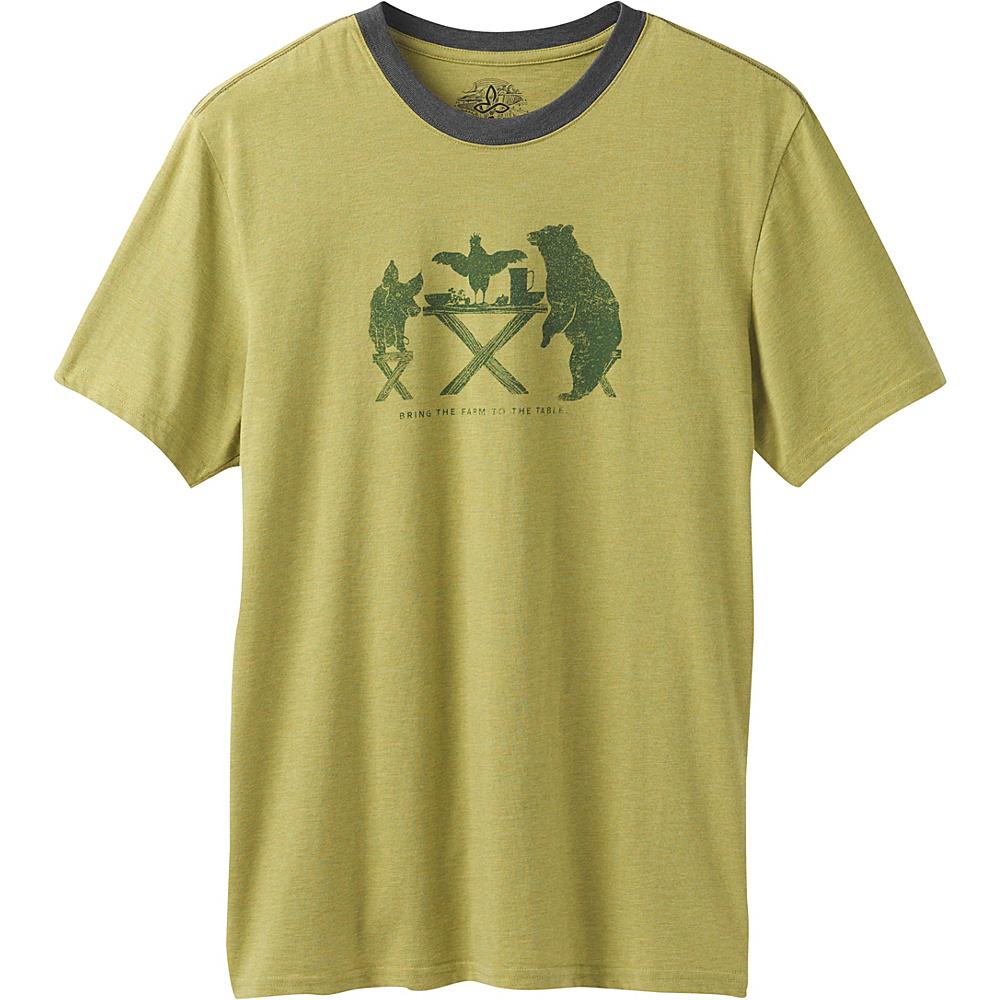 PrAna Farm To Table Ringer T-Shirt M - Pear - PrAna Mens Apparel - Apparel & Footwear, Men's Apparel