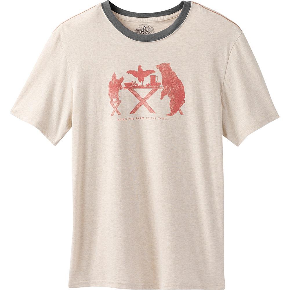 PrAna Farm To Table Ringer T-Shirt L - Stone - PrAna Mens Apparel - Apparel & Footwear, Men's Apparel