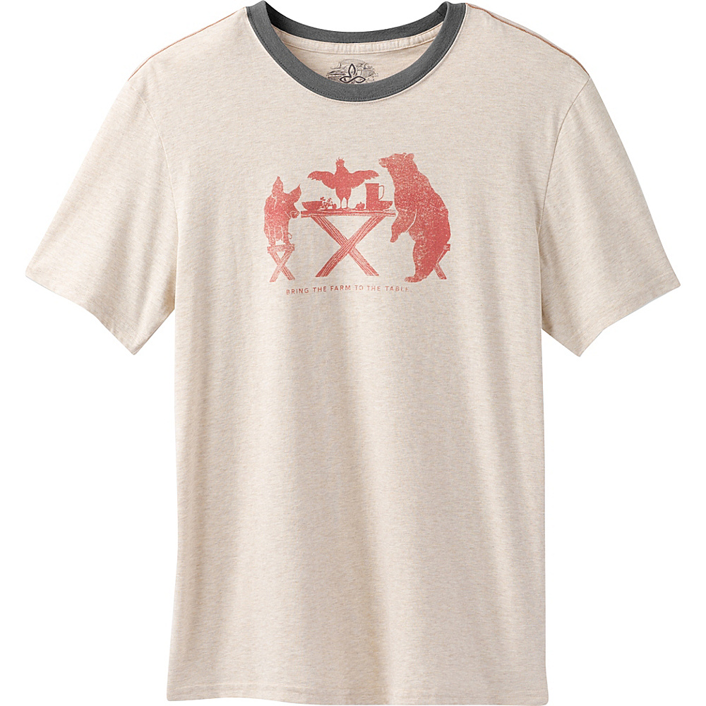 PrAna Farm To Table Ringer T-Shirt M - Stone - PrAna Mens Apparel - Apparel & Footwear, Men's Apparel