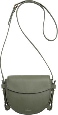 Skagen Lobelle Leather Mini Saddle Bag Agave - Skagen Leather Handbags