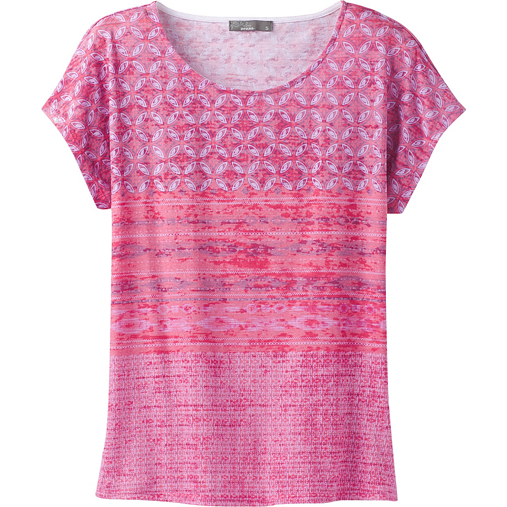 PrAna Harlene Top L - Cosmo Pink Milos - PrAna Womens Apparel - Apparel & Footwear, Women's Apparel