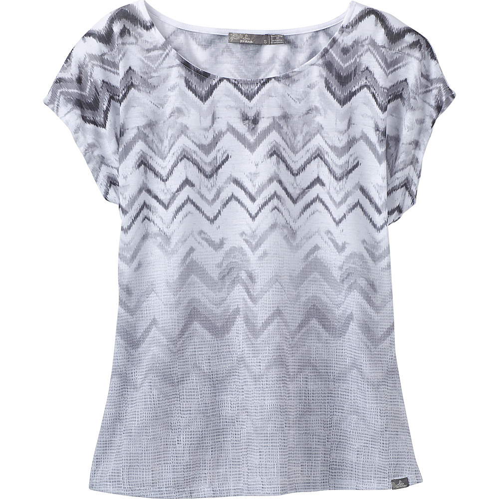 PrAna Harlene Top S - Charcoal Melody - PrAna Womens Apparel - Apparel & Footwear, Women's Apparel