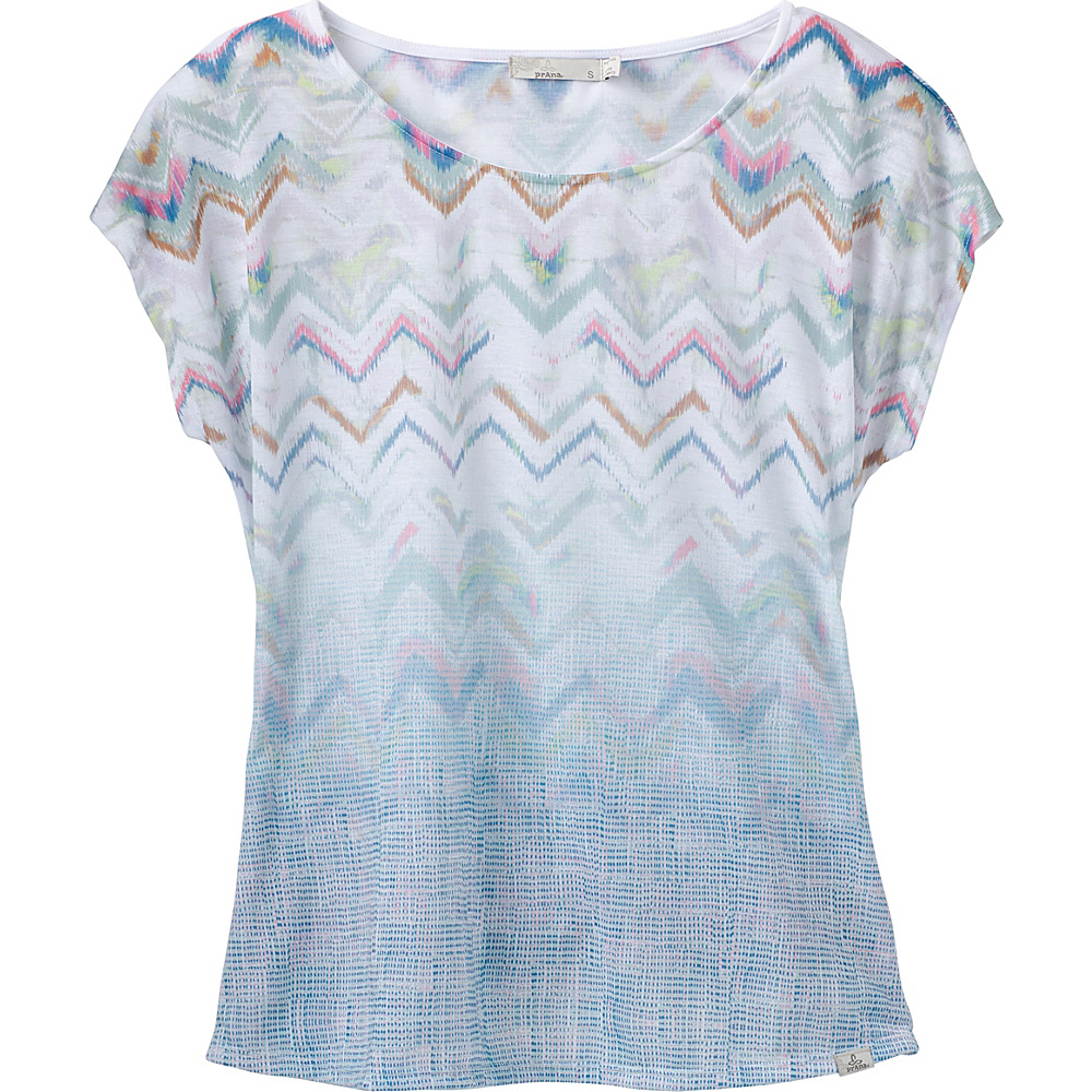 PrAna Harlene Top L - Sweetwater Green Melody - PrAna Womens Apparel - Apparel & Footwear, Women's Apparel