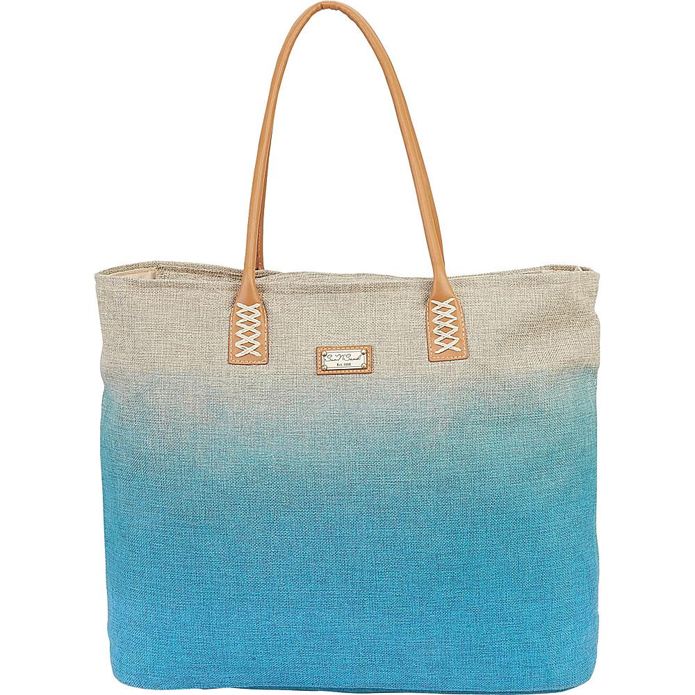Sun N Sand Beach Bound Beach Canvas Tote Turquoise - Sun N Sand Fabric Handbags - Handbags, Fabric Handbags