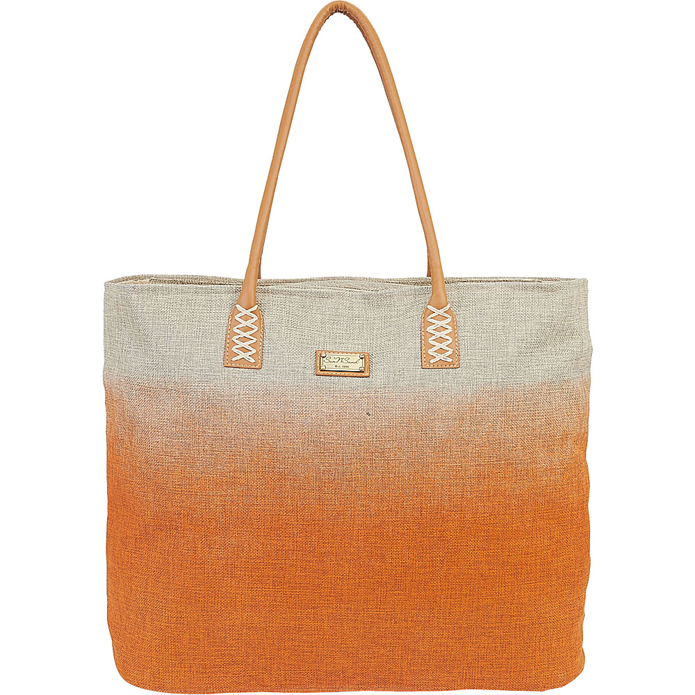Sun N Sand Beach Bound Beach Canvas Tote Orange - Sun N Sand Fabric Handbags - Handbags, Fabric Handbags