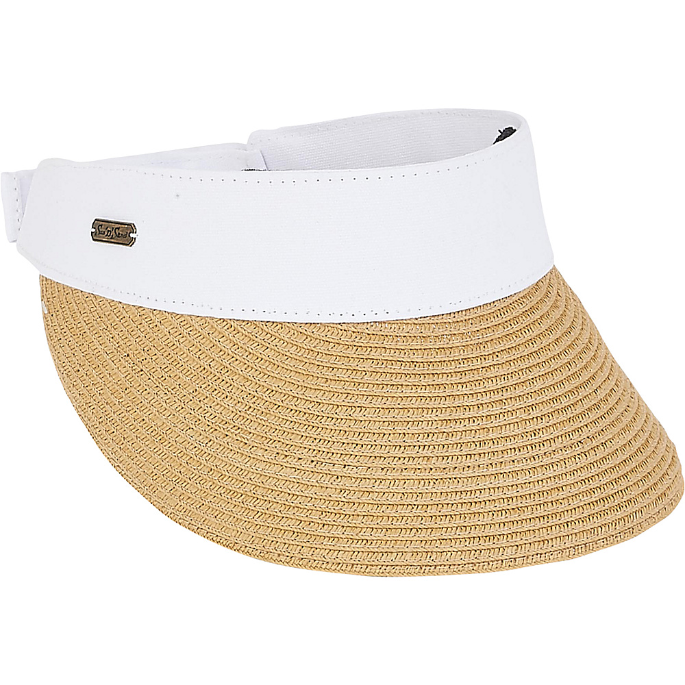 Sun N Sand Visor White - Sun N Sand Hats/Gloves/Scarves - Fashion Accessories, Hats/Gloves/Scarves