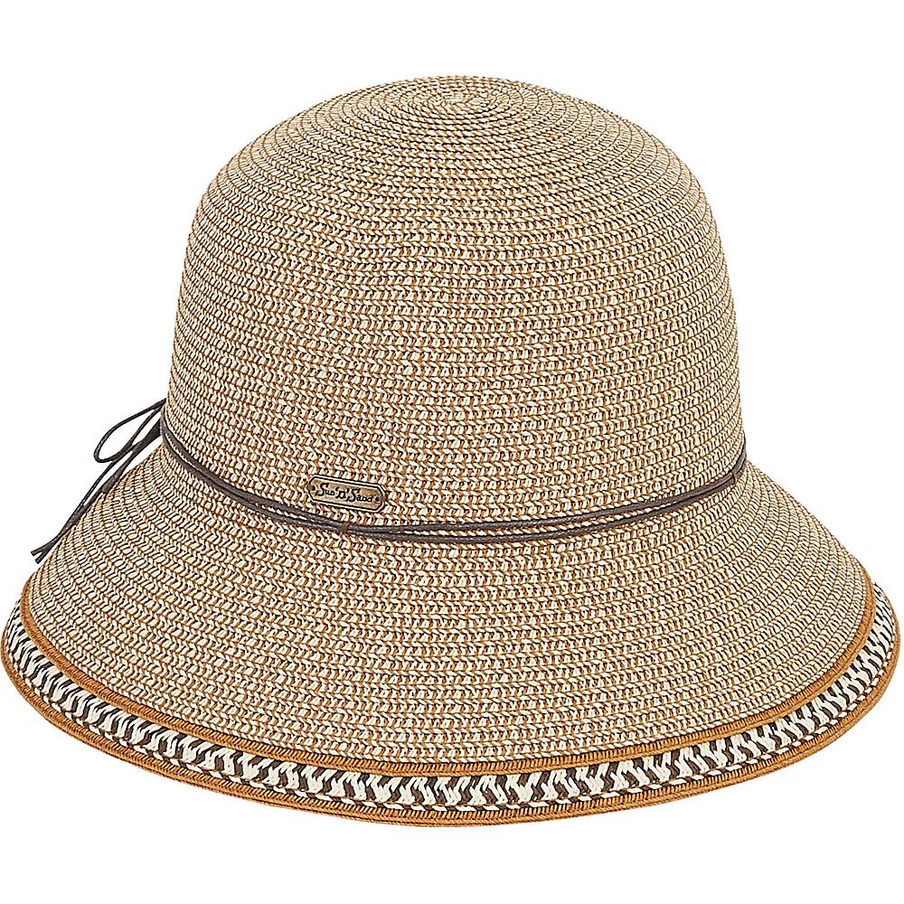 Sun N Sand Paper Braid Hat Tan - Sun N Sand Hats - Fashion Accessories, Hats