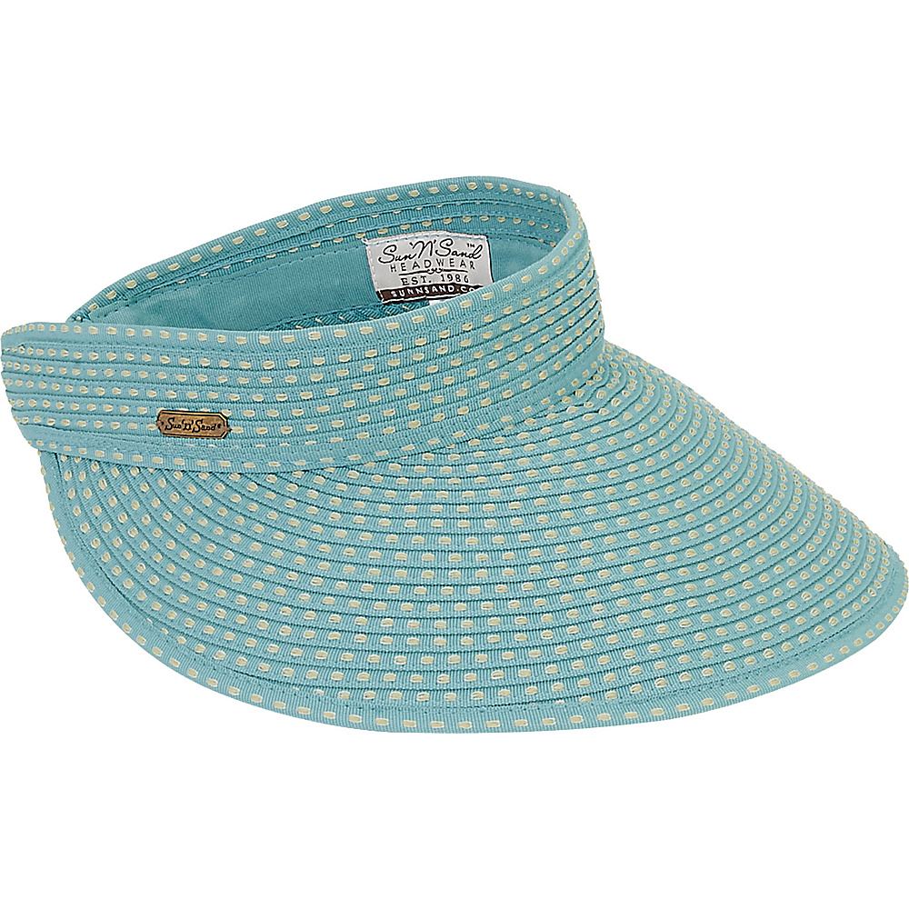 Sun N Sand Visor D-Aqua - Sun N Sand Hats/Gloves/Scarves - Fashion Accessories, Hats/Gloves/Scarves