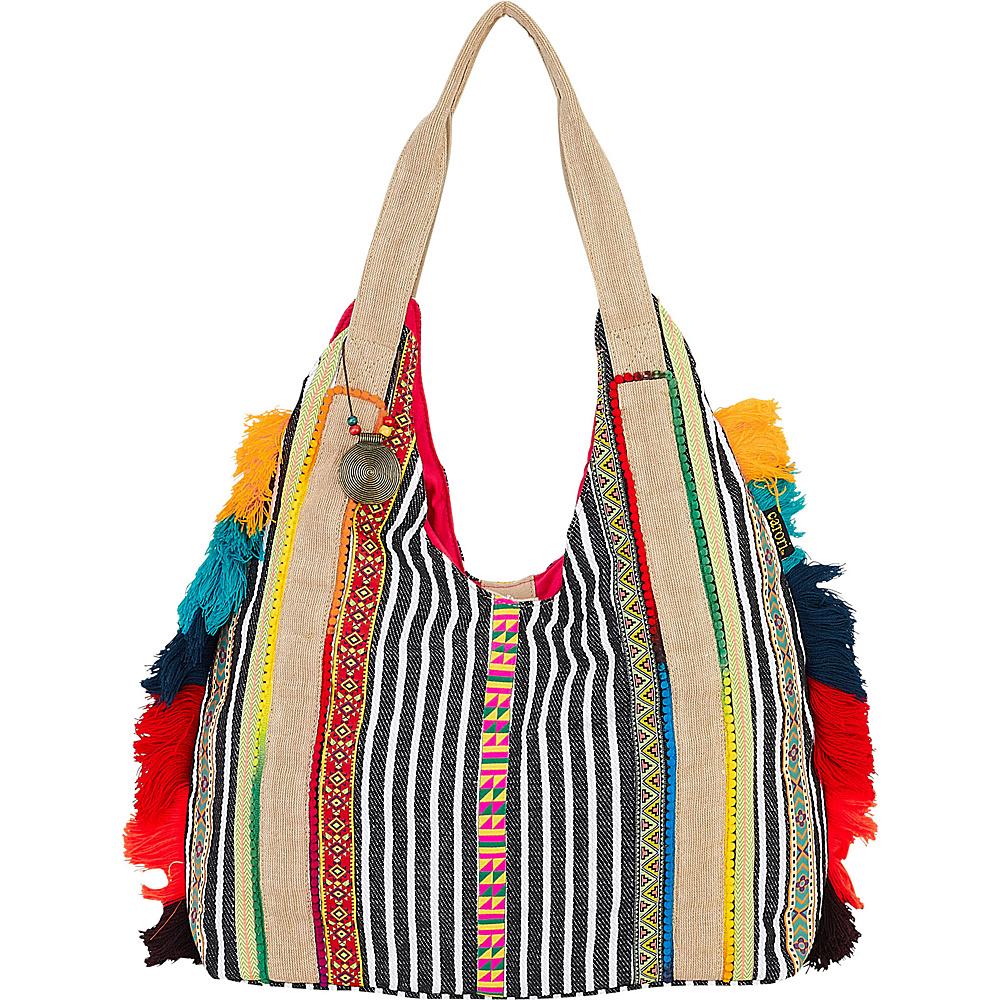 Sun N Sand Bindu Crossbody Blue Multi - Sun N Sand Fabric Handbags - Handbags, Fabric Handbags