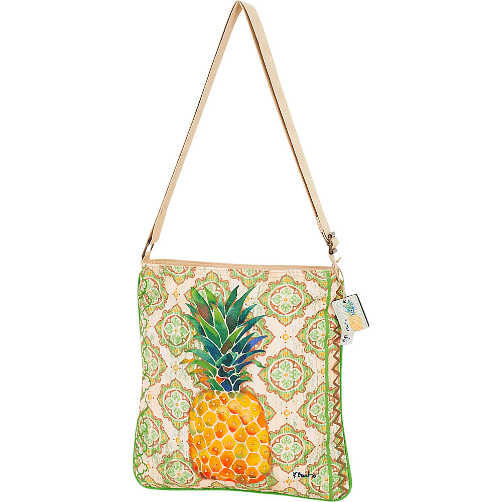 Sun N Sand Paul Brent Artistic Canvas Crossbody Pineapple - Sun N Sand Leather Handbags - Handbags, Leather Handbags