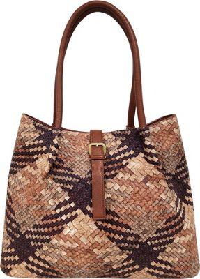 Bueno Woven Tote Brown/Tan/Tobacco - Bueno Manmade Handbags